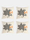 4 Pcs Halloween Pillowcase Cushion Cover Throw Pillow Cover Without Filler Cartoon Pattern Festival Decor For Bedroom Living Room Car Office - #01