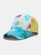 Unisex Cotton Tie-dye Contrast Color Fashion Sunshade Baseball Hat - Yellow
