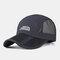 Folding Baseball Cap Outdoor Fishing Net Hat Quick-drying Cap - Blue
