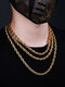 Trendy Hip Hop Twist Chain Stainless Steel Necklace - Gold