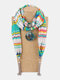Vintage Chiffon Tassel Women Scarf Necklace Geometric Pendant Flower Leaf Pattern Shawl Necklace - #08