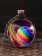 Vintage Glass Gem Women Necklace Universe Starry Sky Pendant Necklace Jewelry - #10