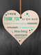 Placa de madeira para presente pendurada com chip de Natal de madeira Pingente Coração Decoração de garrafa de vinho em forma de etiquetas para casa - #05