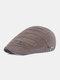 पुरुषों धारीदार पैटर्न ठोस रंग आकस्मिक फैशन Sunvisor फ्लैट टोपी आगे टोपी टोपी टोपी - कॉफ़ी