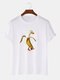 Mens Funny Banana Duck Graphic 100% Cotton Short Sleeve T-Shirts - White
