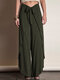 Casual Patchwork Waist Belt Straight Plus Size Pants - Army Green