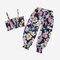 Girl's Cute Floral Print Sleeveless Casual Clothing Set For 2-7Y - As Picture