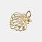 幾何学的な金属の髪の爪半円の月の形のヘアクリップ爪マットヘアピンヘアアクセサリー  - 2