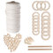 A Set Of Natural Wood Beads Ring Rod Cotton Thread Set Kids DIY Wooden Jewelry Making Crafts Dream Catcher Tassels Accessories - #1