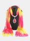 Bohemian Chiffon Gradient Scarf Necklace Drop-Shape Pendant Women Necklace - #04