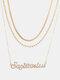 Collar Vintage Doce Constelaciones Mujer Collar de diamantes con incrustaciones de múltiples capas Colgante - Sagitario
