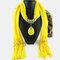 Bohemian Dacron Multi-layer Necklace Handmade Teardrop Pendant Tassel Women Scarf Shawl Necklace - 10