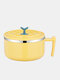 1PC Stainless Steel Anti-scalding Sealed Large Capacity Phone Support Student Canteen School Dormitory Lunch Dinner Single Tableware Noodle Soup Bowl Lid Kitchen Utensils Set - Yellow
