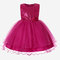 Girl's Sequin Decorated Bowknot Patchwork Tulle Princess Dress for 4-13Y - Rose