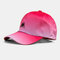 Hat Female Color Gradient M Letter Three-Dimensional Embroidery Baseball Cap Shade Cap - Rose