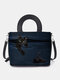 Women Cat Striped Handbag Crossbody Bag Shoulder Bag Satchel Bag - Blue