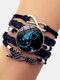 Vintage Twelve Constellation Women Bracelet LOVE Letter Multilayer Bracelet - Aquarius