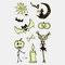 Halloween Luminous Tattoo Children Cartoon Stickers Body Art Waterproof Fake Temporary Tattoo Transfer Paper - 16