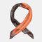 Retro Print Imitation Silk Small Square Scarf Satin Silk Scarf Headband Wild Scarf - #01