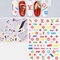 3D Sports Trendy Style Sign Nail Stickers Waterproof DIY Colorful Tips Nail Decals Manicure - 34
