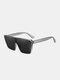 Unisex PC Full Square Frame One-piece Goggles UV Protection Oversized Fashion Sunglasses - Gray