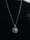Punk Hip-hop Stainless Steel Compass Long Sweater Necklace - Sliver