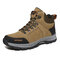 Men Outdoor Suede Slip Resiatnt Lace Up Hiking Boots - Brown