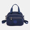 Women Nylon Waterproof Casual Handbag Crossbody Bag - Navy Blue