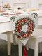 Chemin de table de bonhomme de neige de wapiti de Noël Joyeux décor de Noël pour des ornements à la maison - #02
