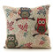 <US Instock> Owl Decorative Throw Pillow Case Cushion Cover 18x18 inch Square Zipper Waist Pillowcase Pillow Protector Slip Cases for Home Bedroom Couch Sofa Bed - #3