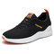 Men Sports Fabric Non Slip Breathable Casual Running Sneakers - Black Yellow