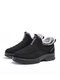Women Casual Quilting Slip On Waterproof Warm Lining Snow Short Cotton Boots - Black