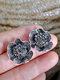 Vintage Stereoscopic Flowers Earrings Inlaid Diamond Large Ear Stud - #02