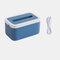Waterproof Tissue Holder Bathroom Napkin Dispenser Tissue Box with Night Lights - Blue