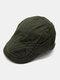 पुरुष पत्र कढ़ाई ठोस रंग आकस्मिक फैशन Sunvisor फ्लैट टोपी आगे टोपी टोपी टोपी - हरा