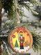 1Pc Christmas Ornament Lighted Wooden Walnut Soldier Pendant Small Tree Pendant Pendant - #02