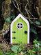1 PC Wooden Handmade Multicolor Cute Miniature Fairy Gnome Dwarf Gate Landscaping Yard Garden Tree Decor Ornament - #01