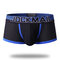 Stylish Spell Color Pouch Mesh Boxer Elastic Belt Thin Breathable Underwear for Men