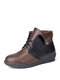 Large Size Women Splicing Comfy Wearable Fordable Lace-up Flat Ankle Boots - Brown