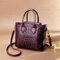 Women Crocodile Pattern PU Leather Handbag Casual Crossbody Bag - Purple