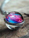 Vintage Double-Sided Glass Ball Women Necklace Universe Galaxy Nebula Pendant Necklace - #07