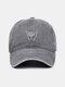 ユニセックス洗浄綿無地ジェスチャー刺繍パターン屋外サンシェード野球帽 - #05