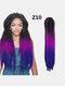 22 цвета цветная грязная коса Спираль длинная Волосы конский хвостик маленькая весна кудрявая Парик - #17
