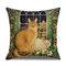 Retro Style Cats Leinen Baumwolle Kissenbezug Home Sofa Art Decor Throw Kissenbezug - #5