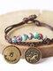 Vintage Constellation Circle-shape Ceramic Alloy Bracelets - #09