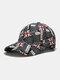 यूनिसेक्स कॉटन ब्रिटिश फ्लैग पैटर्न कैजुअल फैशन सनवीसर पीक कैप बेसबॉल टोपी - काली