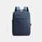 Men Oxford USB Charging Light Weight Large Capacity 15.6 Inch Laptop Bag Backpack - Blue 1