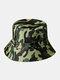 Unisex Cotton Camouflage Solid Climbing Outdoor Sunshade Adjustable Bucket Hat - Camo-1