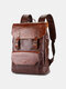 Vintage Faux Fur Large Capacity Anti-Theft All-Match Waterproof Multi-Pockets Backpack - Coffee