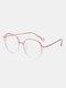Unisex Oval Full Frame Flat-light Fashion Simple Glasses - #04